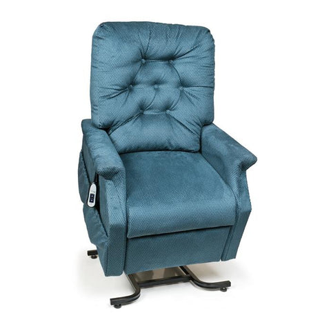 UltraComfort UC214 2 Position Medium Power Lift Chair in cornflower color front view white background