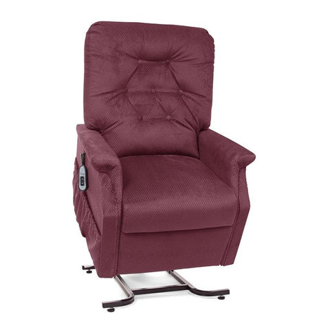 UltraComfort UC214 2 Position Medium Power Lift Chair in rosewood color front view white background