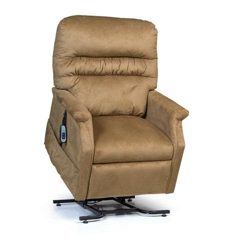 UltraComfort UC332L 3 Position Large Power Lift Chair in autumn color front view with controller on the side