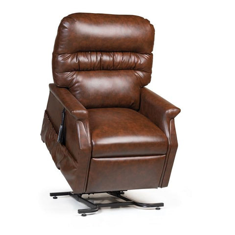 UltraComfort UC332L 3 Position Large Power Lift Chair in chestnut color front view with controller on the side