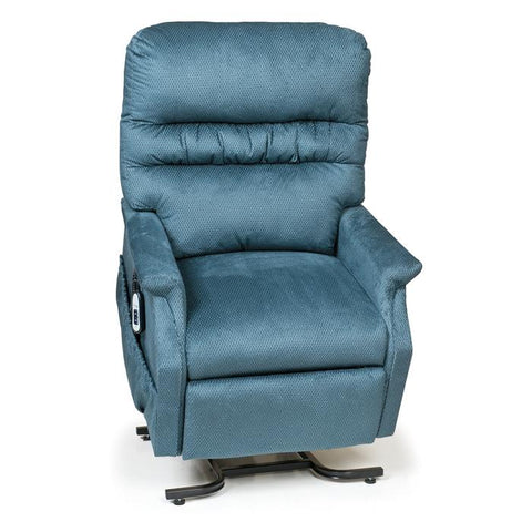 UltraComfort UC332L 3 Position Large Power Lift Chair in cornflower color front view with controller on the side