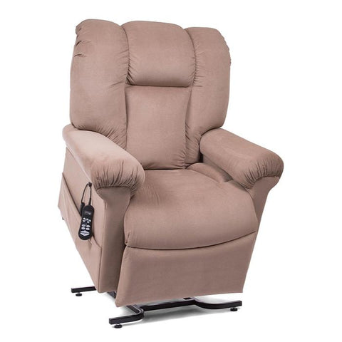 UltraComfort UC520 Medium Zero Gravity Lift Chair in almond color front view