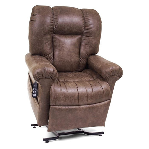 UltraComfort UC520 Medium Zero Gravity Lift Chair in dark silt color front view