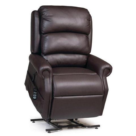 UltraComfort UC550-L Large Zero Gravity Lift Chair in Coffeebean color angled view