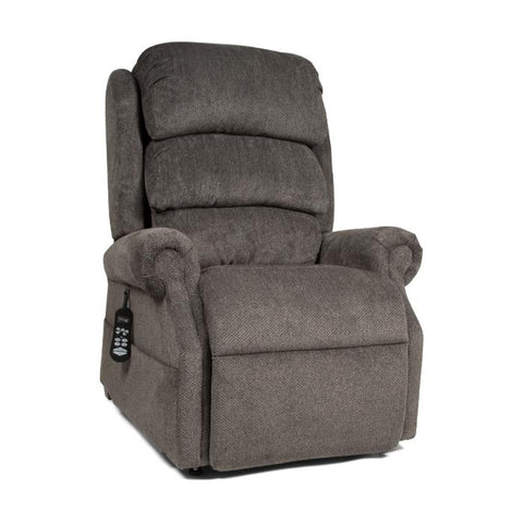 UltraComfort UC550-M Medium Zero Gravity Lift Chair in Granite color angled view