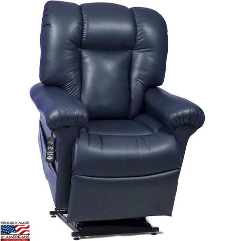 UltraComfort UC562 Zero Gravity Lift Chair in Navy color raised