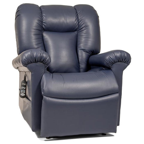 UltraComfort UC562 Zero Gravity Lift Chair Navy color sitting position