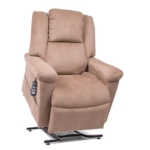 UltraComfort UC682 Medium Zero Gravity Lift Chair in Wicker color slightly raise up with controller