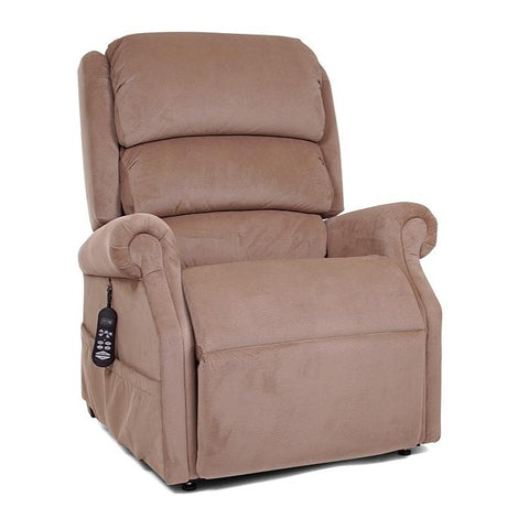 UltraComfort UC550-L Large Zero Gravity Lift Chair in Almond color front view