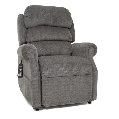 UltraComfort UC550-L Large Zero Gravity Lift Chair in Granite Color angled view