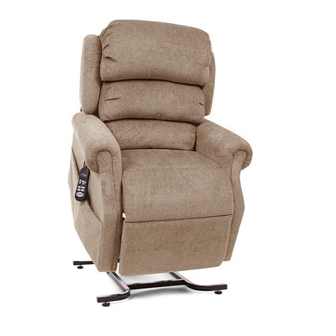 UltraComfort UC550-M Medium Zero Gravity Lift Chair in Wicker color angled view