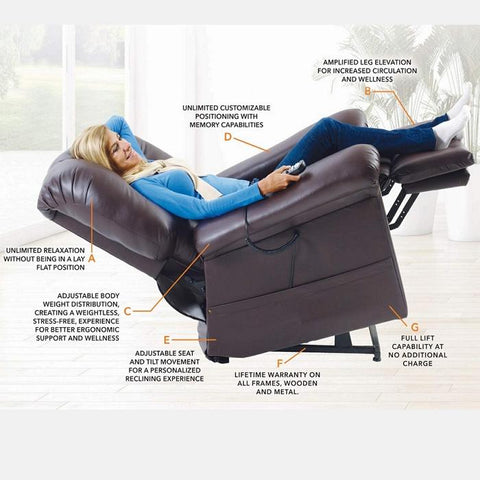 UltraComfort UC570-L Large Zero Gravity Lift Chair | PrimeMassageChairs.com