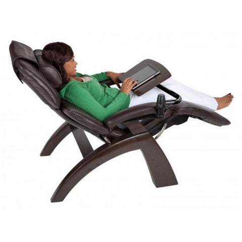 Human Touch Perfect Chair Laptop Desk Angled View with person