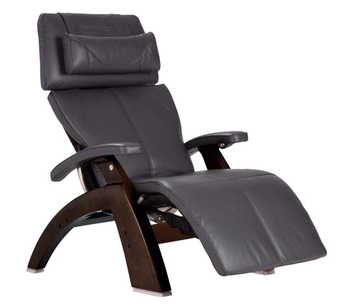 Human Touch Perfect Chair PC-LiVE PC-610 Zero Gravity Recliner Grey Dark Walnut