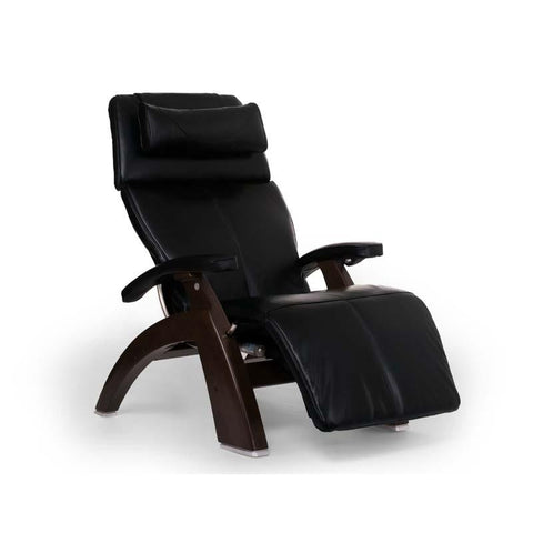 Human Touch Perfect Chair PC-LiVE PC-600 Zero Gravity Recliner Black Dark Walnut