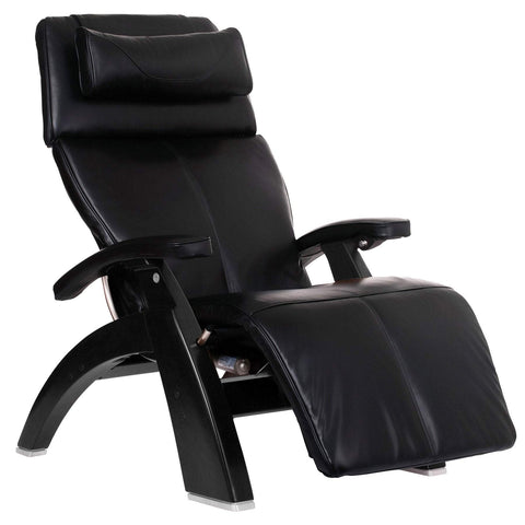 Human Touch Perfect Chair PC-LiVE PC-610 Zero Gravity Recliner black base side view