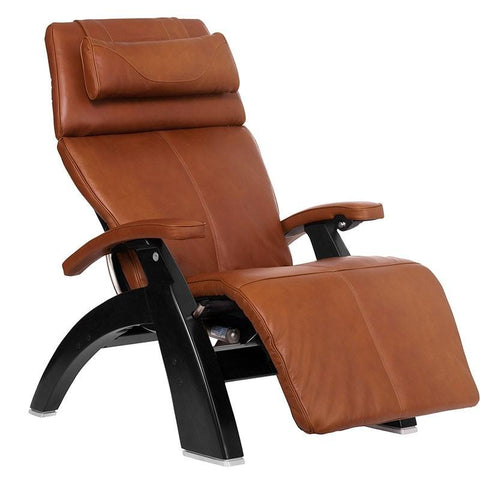 Human Touch Perfect Chair PC-LiVE PC-600 Zero Gravity Recliner Cognac Black Base