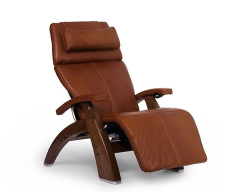 Human Touch Perfect Chair PC-LiVE PC-600 Zero Gravity Recliner Cognac Walnut
