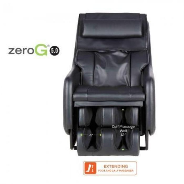 Human Touch ZeroG 5.0 Massage Chair in black front view