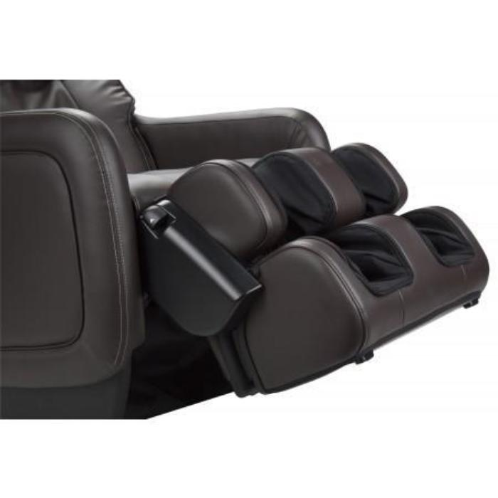 Human Touch ZeroG 5.0 Massage Chair in brown and black color side view of footrest