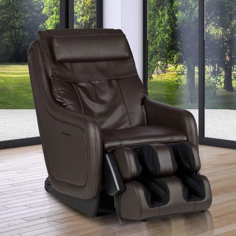 Human Touch ZeroG 5.0 Massage Chair brown color semi side view in room