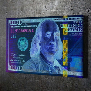 $100 Bill Blue & Pink - Artwork Addict