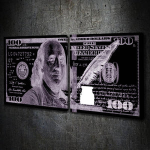 $100 Bill Invert Bluish Multi-Panel - Artwork Addict