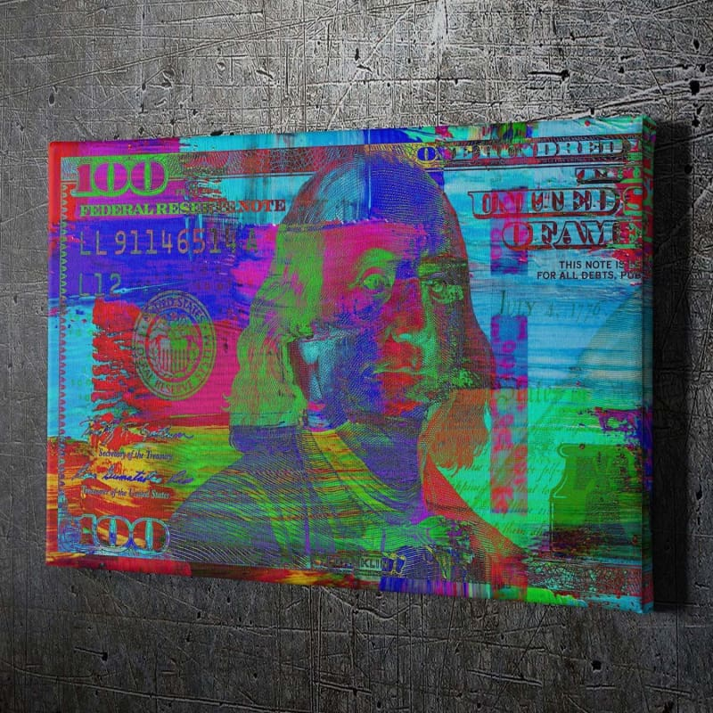 $100 Bill Paint Brush - Framed Canvas Painting Wall Art Office Decor, large modern pop artwork for home or office, Entrepreneur Inspirational and motivational Quotes on Canvas great for man cave or home. Perfect for Artwork Addicts. Made in USA, FREE Shipping.