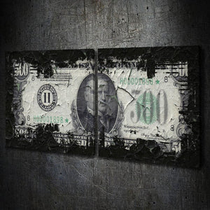 $500 Bill Multi-Panel - Artwork Addict