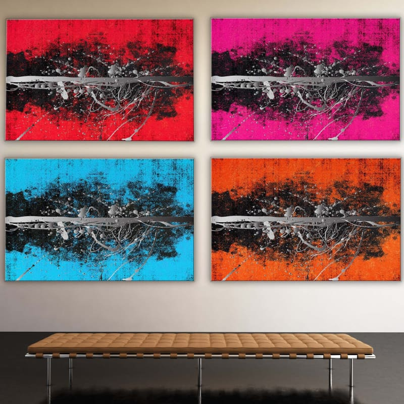 Abstract Pink Silver - Framed Canvas Painting Wall Art Office Decor, large modern pop artwork for home or office, Entrepreneur Inspirational and motivational Quotes on Canvas great for man cave or home. Perfect for Artwork Addicts. Made in USA, FREE Shipping.