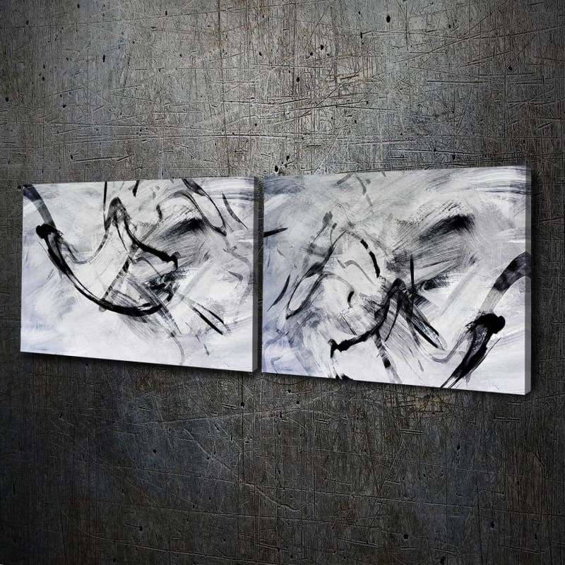 Abstract White Black Ink - Artwork Addict