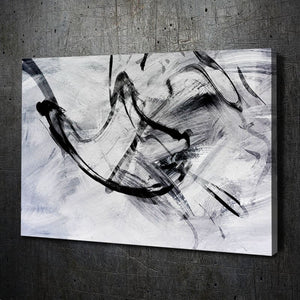 Abstract White Black Ink I - Artwork Addict