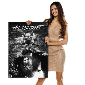 All Mindset Kitten Reflection - Artwork Addict