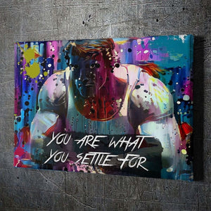 "Arnold ""Settle"" - Framed Canvas Painting Wall Art Office Decor, large modern pop artwork for home or office, Entrepreneur Inspirational and motivational Quotes on Canvas great for man cave or home. Perfect for Artwork Addicts. Made in USA, FREE Shipping."