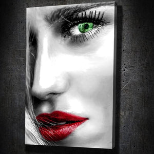 Blonde Money Eye Red Lips - Artwork Addict