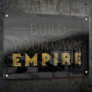 Build Your Own Empire - Framed Canvas Painting Wall Art Office Decor, large modern pop artwork for home or office, Entrepreneur Inspirational and motivational Quotes on Canvas great for man cave or home. Perfect for Artwork Addicts. Made in USA, FREE Shipping.