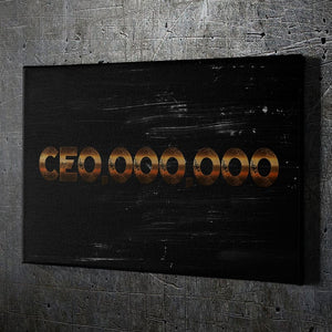 CEO,OOO,OOO Wall Art - Framed Canvas Painting Wall Art Office Decor, large modern pop artwork for home or office, Entrepreneur Inspirational and motivational Quotes on Canvas great for man cave or home. Perfect for Artwork Addicts. Made in USA, FREE Shipping.