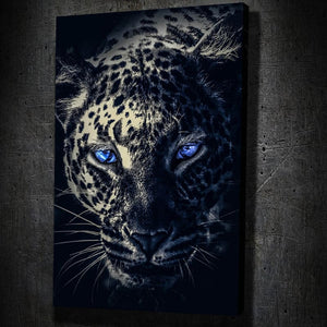 Dark Leopard Blue Eyes - Artwork Addict