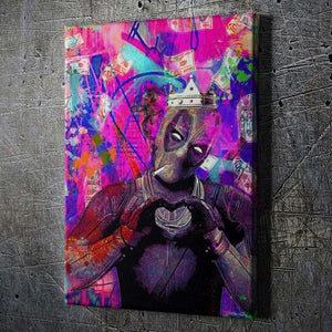 Deadpool Inspired Graffiti King - Artwork Addict