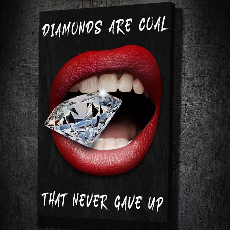 Diamond Lips Coal - Artwork Addict