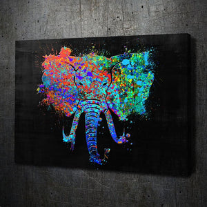 Elephant Paint Splatter - Artwork Addict