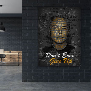 Elon Musk Don't Ever Give Up - Artwork Addict