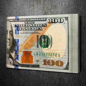 Folded $100 Bills - Artwork Addict