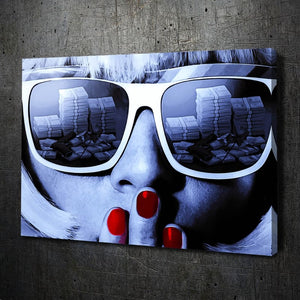 Girl Sunglasses Paint - Artwork Addict