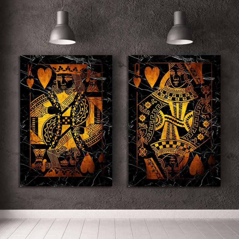 Gold King & Queen of Hearts Combo - Artwork Addict