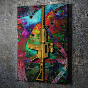 Graffiti Golden Gun - Artwork Addict