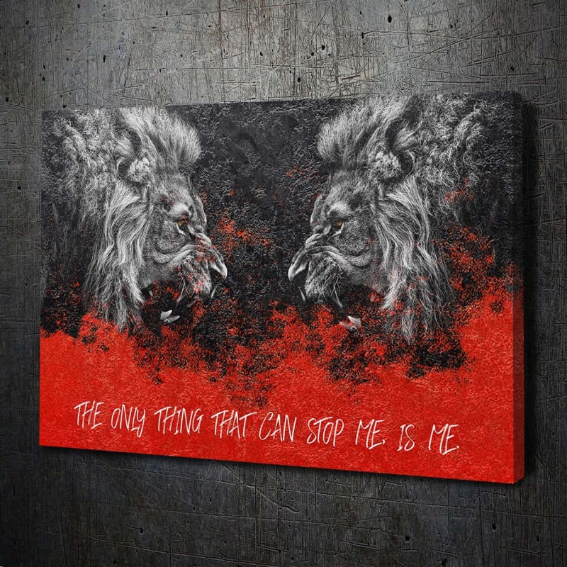 Lion Face-Off Stop Me - Artwork Addict