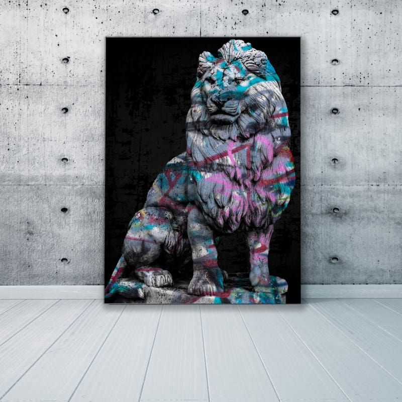 Lion Graffiti Status - Artwork Addict