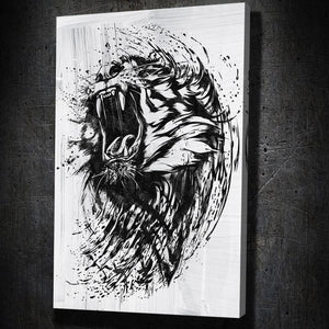 Lion Ink Splatter - Artwork Addict