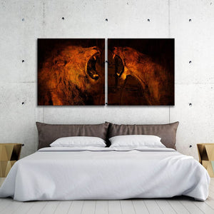 Lion Vs Lioness Multi-Panel - Artwork Addict